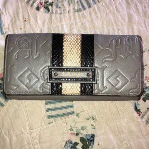 L.A.M.B. Gwen Stefani Embossed Gray Bifold Wallet